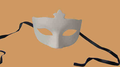 Venetian Colombina Corona type B white mask