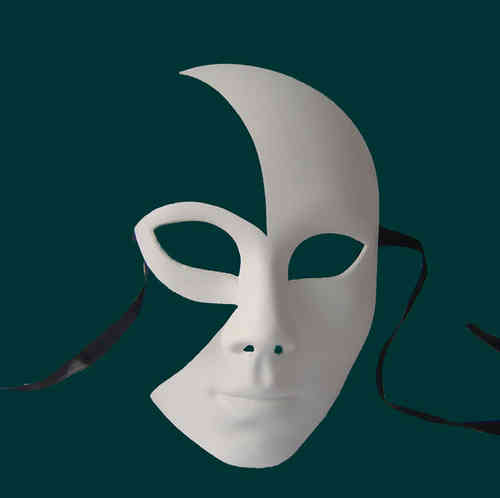 Cut-out mezzo volto mask Type A (clearly shaped lips)