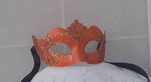 Venetian colombine mask, tipped