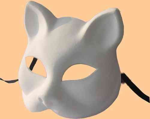 Venetian Gatto (Cat) white mask
