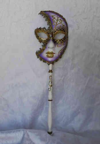 Venetian mask on stick