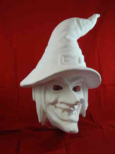 Witch mask with hat imitation