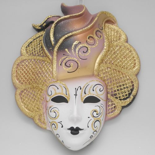 "Venetian decorative wall mask ""Sylvia"" rose"
