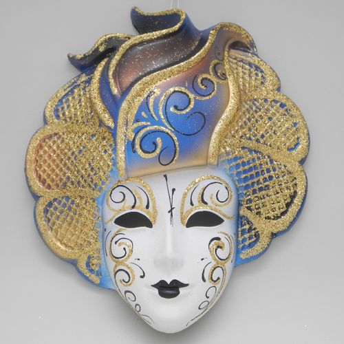 "Venetian decorative wall mask ""Sylvia"" blue"