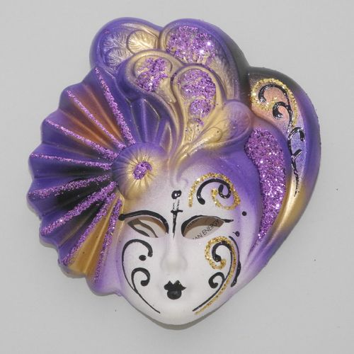 "Venetian decorative wall mask ""Livia"", S, violet"