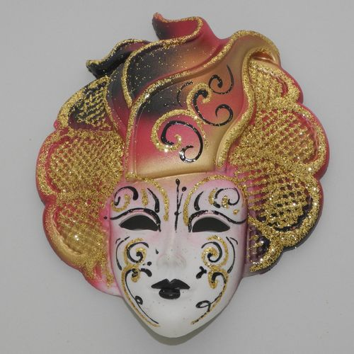 "Venetian decorative wall mask ""Sylvia"", M, red"