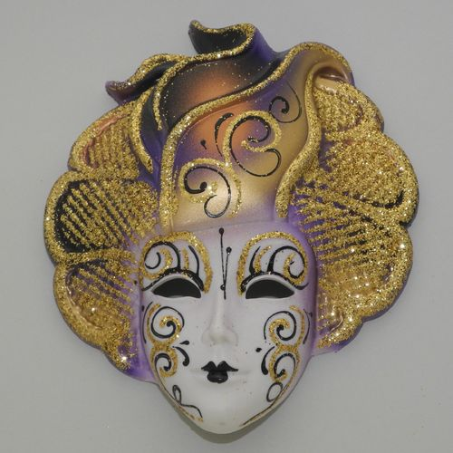 "Venetian decorative wall mask ""Sylvia"", M, violet"