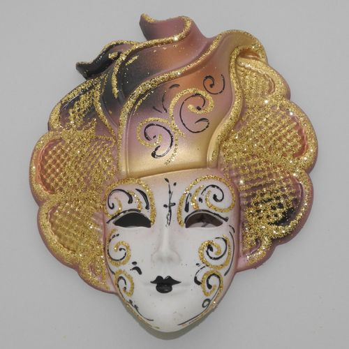 "Venetian decorative wall mask ""Sylvia"", M, rose-brown"