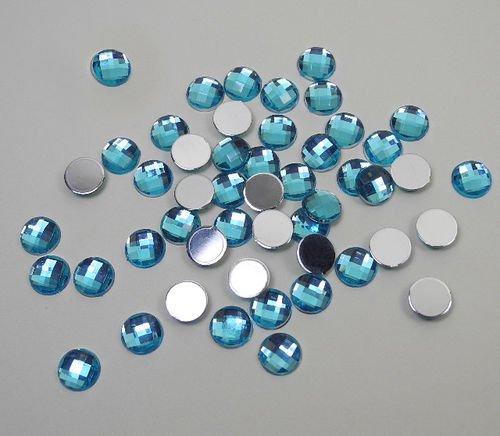 Acrylic Gemstones 8 mm cristalline blue 50 pcs.