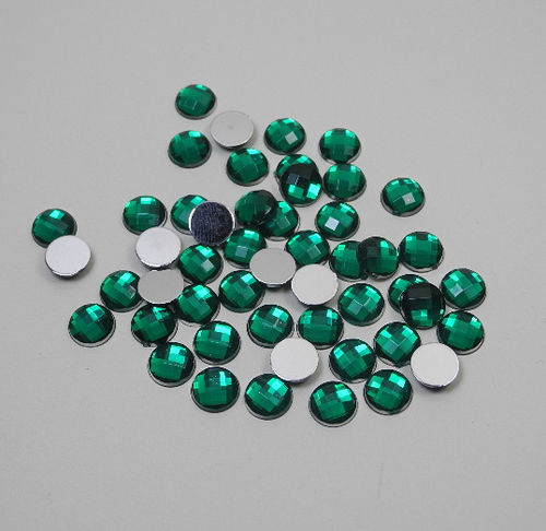 Acrylic Gemstones 8 mm green 50 pcs.