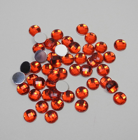 Acrylic Gemstones 8 mm red 50 pcs.